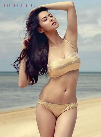 models Marian Rivera 18 years denuded photoshoot in public