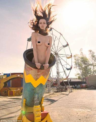 Lydia Hearst topless photoshoot