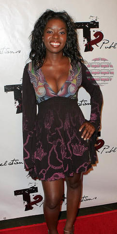 actress Camille Winbush 22 years sensual picture in public