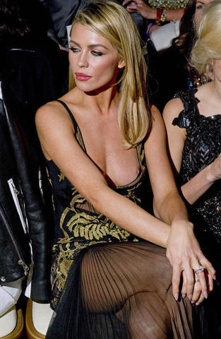 celebritie Abbey Clancy 22 years indecent photography in public