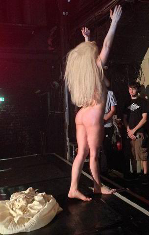 celebritie Lady Gaga 19 years undress snapshot in public