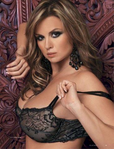 models Anna Semenovich 2015 Without bra art in the club