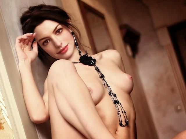 actress Anne Hathaway 21 years nudism image in public
