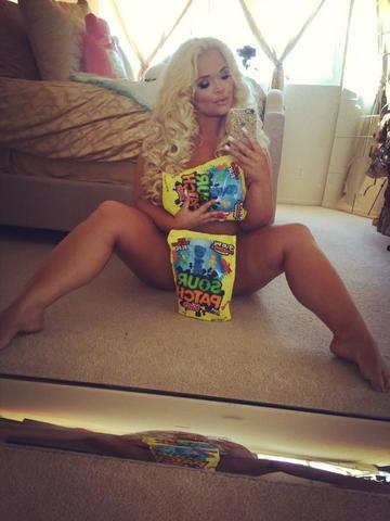 actress Trisha Paytas young unmasked pics beach