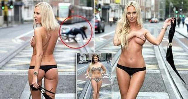 models Anna Graves 22 years swimsuit image in public