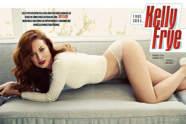 actress Kelly Frye 21 years voluptuous photoshoot home