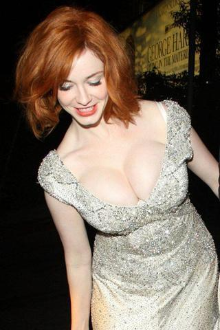 actress Christina Hendricks 18 years Hottest foto home