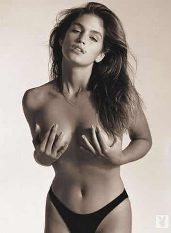 models Cindy Crawford 18 years Without clothing picture beach