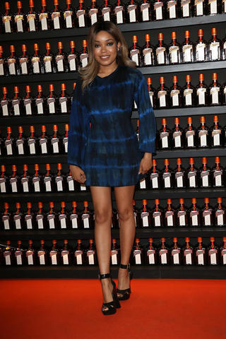 actress Dionne Bromfield 20 years private photo in the club
