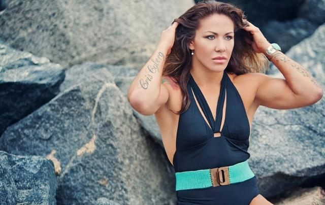actress Cris Cyborg 19 years swimsuit image in public