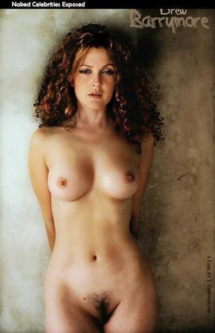 Drew Barrymore topless photos
