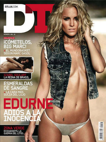 Edurne topless photography