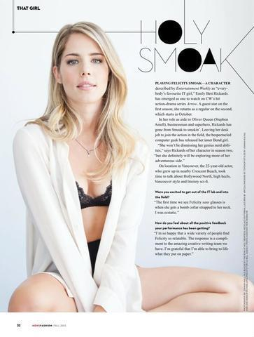 Emily Bett Rickards topless photoshoot