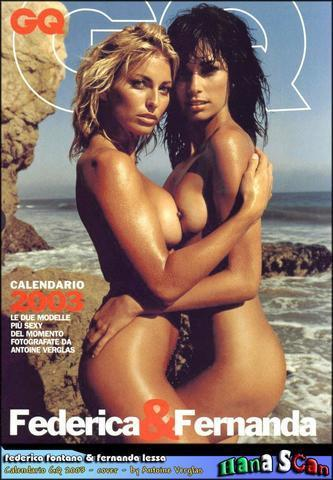 celebritie Federica Palmer 22 years unclothed art beach