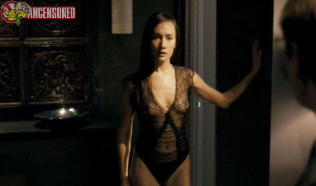 actress Maggie Q 22 years leafless photo beach
