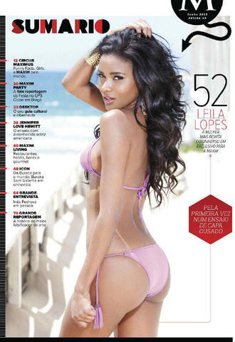 Leila Lopes topless photoshoot