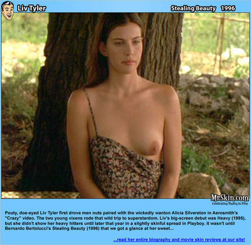 actress Liv Tyler 19 years bared photoshoot in public