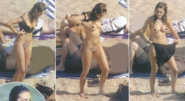 celebritie Olivia Molina 25 years salacious pics beach