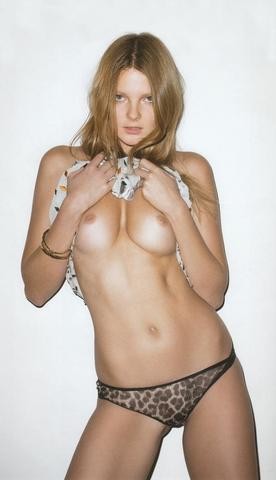Rosie Huntington-Whiteley topless art