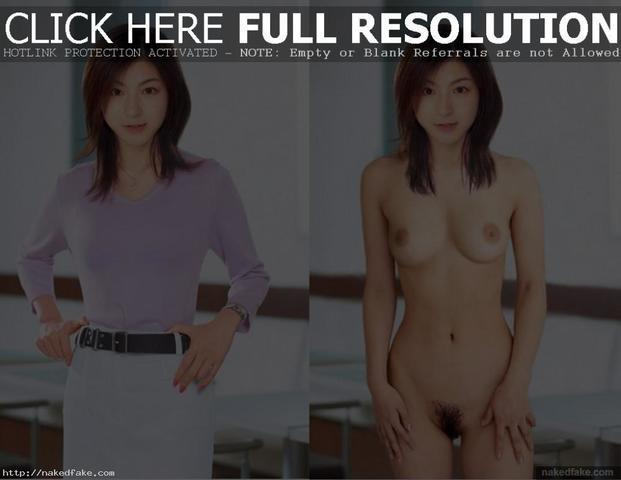 actress Ryôko Hirosue 19 years Without brassiere photoshoot in public