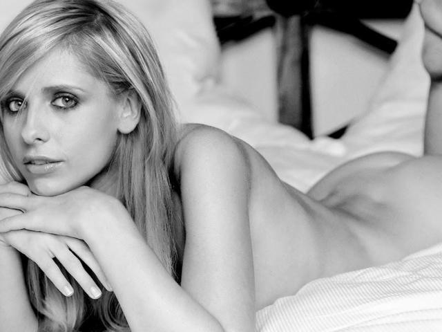 models Sarah Michelle Gellar 24 years Without slip art home