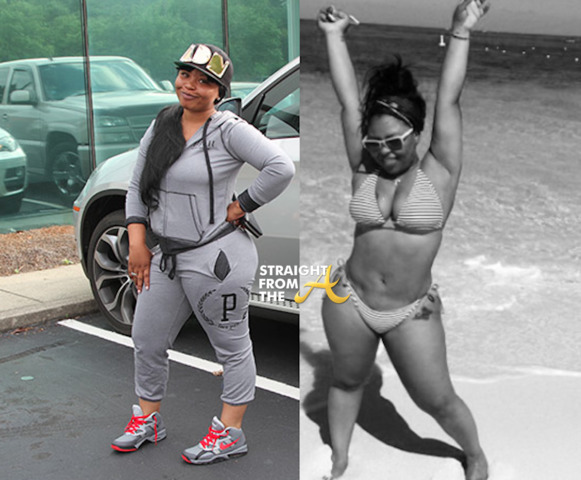 actress Tameka 'Tiny' Cottle 18 years bosom foto beach