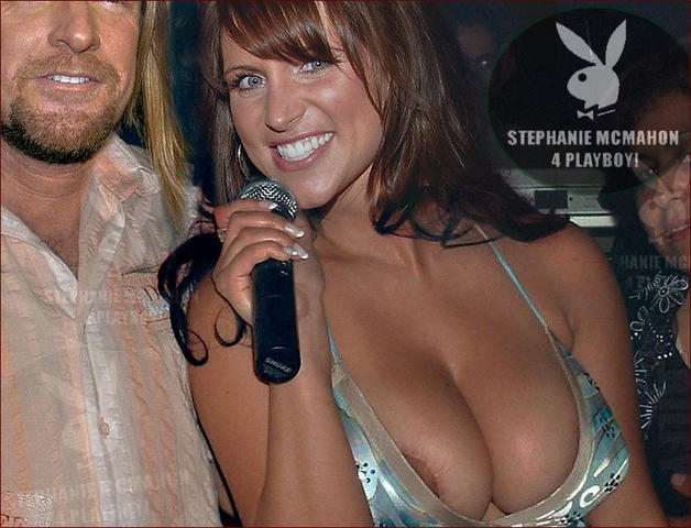 actress Stephanie McMahon 21 years melons photo in the club