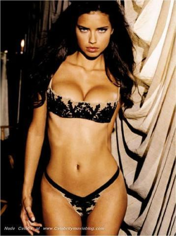 models Adriana Lima 25 years tits art in public