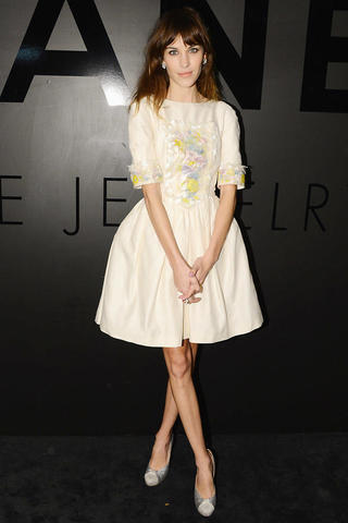 celebritie Alexa Chung young disclosed photoshoot in the club