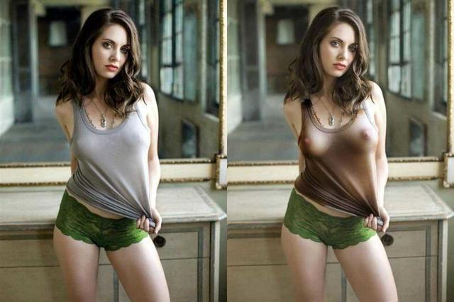 actress Alison Brie 23 years titties photo home