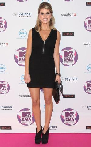 actress Amy Huberman 18 years indecent image in the club