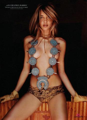 models Ana Beatriz Barros 18 years Without brassiere foto in the club
