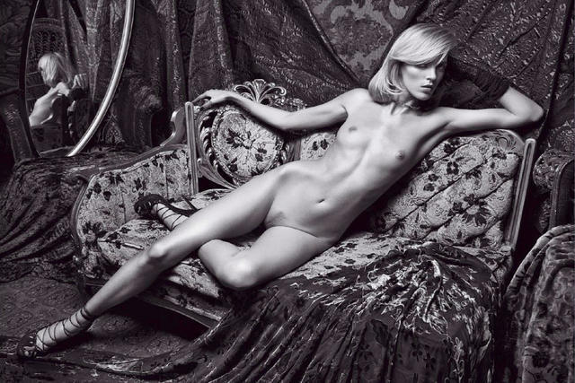 Naked Anja Rubik photoshoot