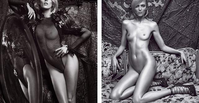 celebritie Anja Rubik 19 years concupiscent photography in public