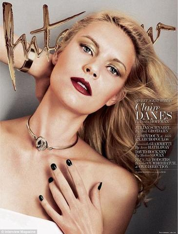 models Claire Danes 20 years bare-skinned photoshoot home