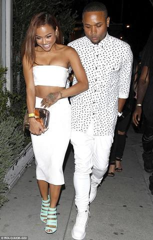 models Karrueche Tran 22 years fervid photo in the club