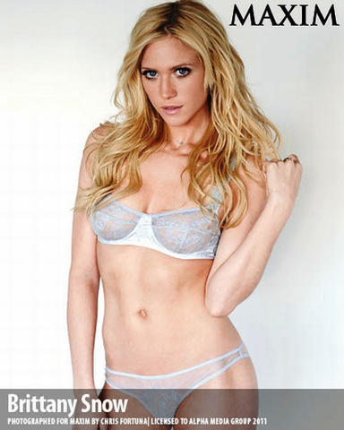 actress Brittany Snow 24 years bare photos beach