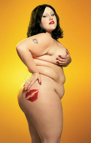 Naked Beth Ditto art