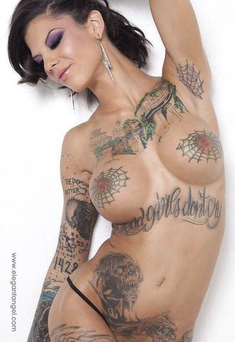 models Bonnie Rotten 24 years uncovered snapshot home