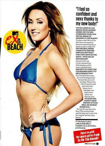 actress Charlotte Crosby young in one's skin photoshoot beach