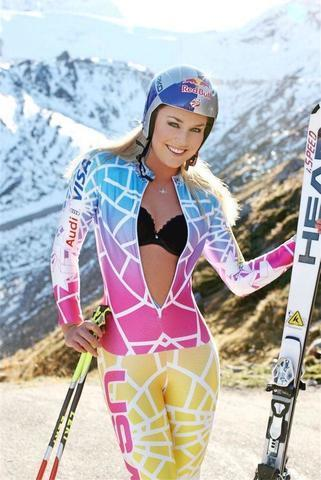 actress Lindsey Vonn 23 years bare-skinned photoshoot home