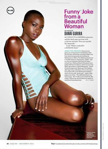 actress Danai Gurira 25 years salacious snapshot beach