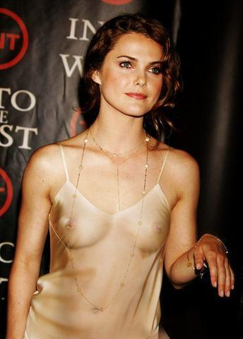 models Keri Russell 18 years bust snapshot beach