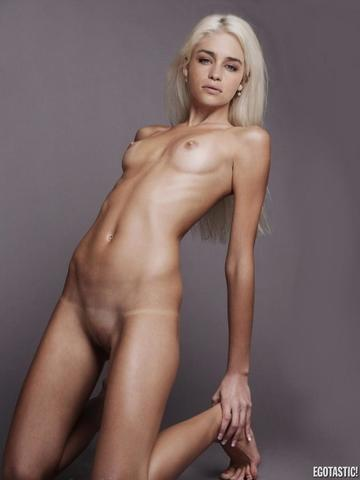 Emmy Clarke topless photoshoot
