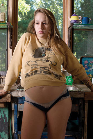 models Jemima Kirke 23 years teat photoshoot in public