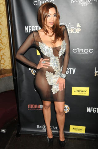 celebritie Erica Mena 24 years Without panties photography in the club