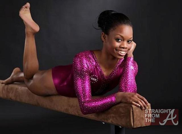 actress Gabby Douglas 24 years titties photoshoot in the club