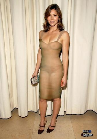 actress Jessica Biel 23 years titties art home