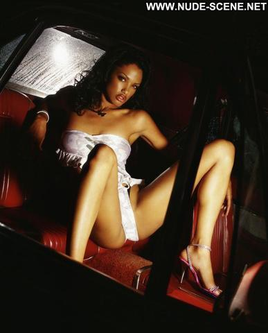 actress K.D. Aubert young salacious art in public