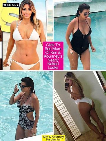 models Kourtney Kardashian 2015 swimming suit photography home